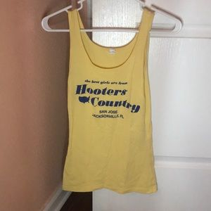 Authentic yellow Hooters Tank top